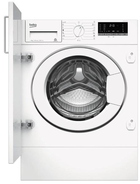 Beko witv 8712 xw0 - lavadora integrable con carga de 8 kg y