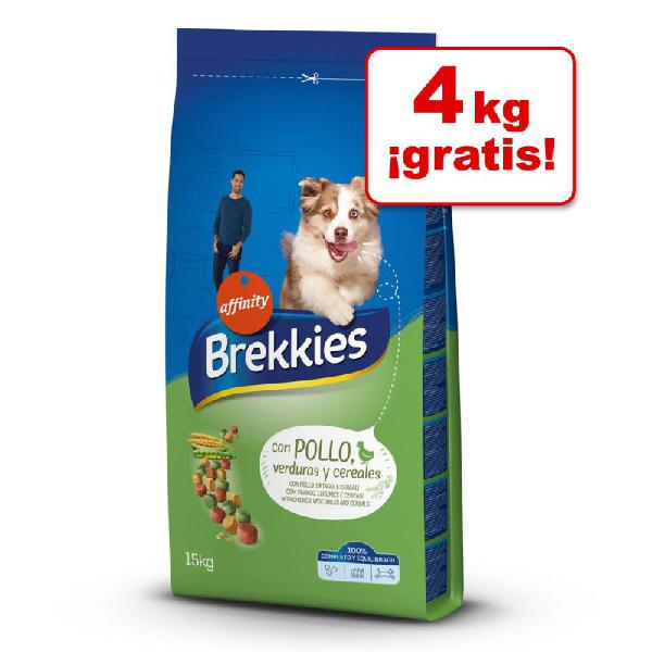 Brekkies 14 / 15 kg pienso para perros en oferta: hasta 4 kg