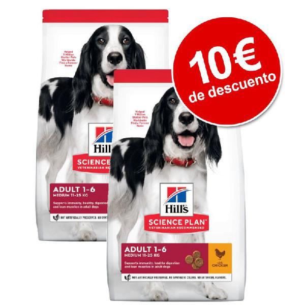 Hill's science plan 2 x 14 kg pienso para perros ¡con 10