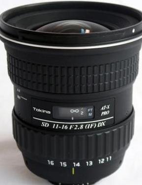 Objetivo tokina at-x pro dx 11-16mm f2.8 for nikon