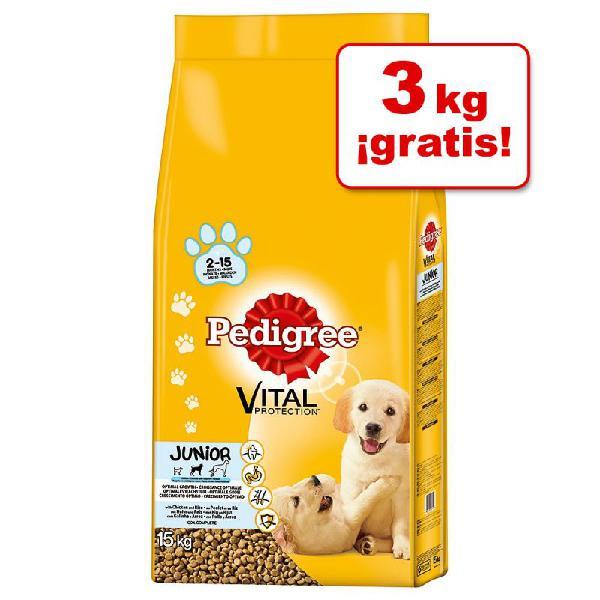 Pedigree 13 / 15 kg pienso para perros en oferta: 3 kg