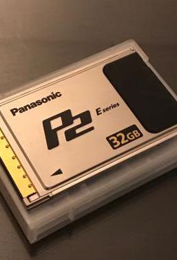 Tarjetas panasonic p2 e-series de 32gb