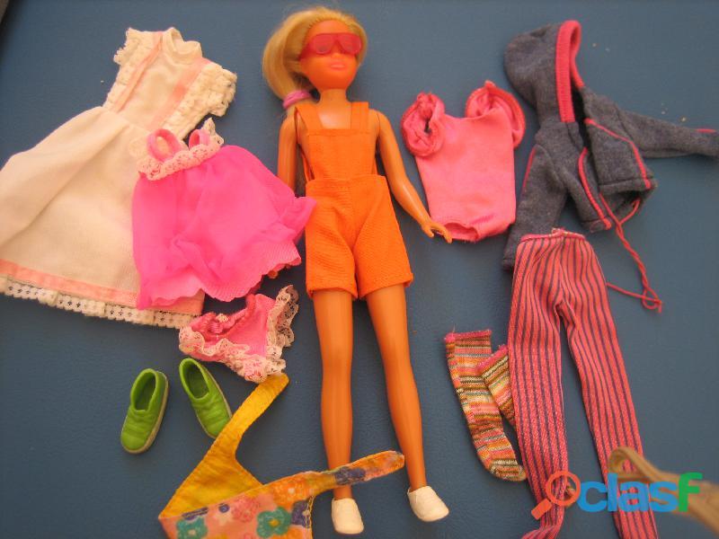 Muñeca skiper antigua + ropa