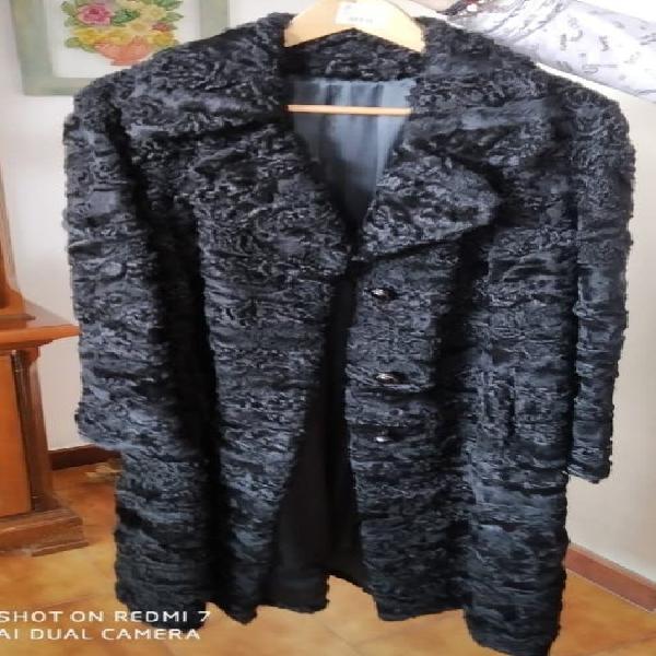 Astracán abrigo negro