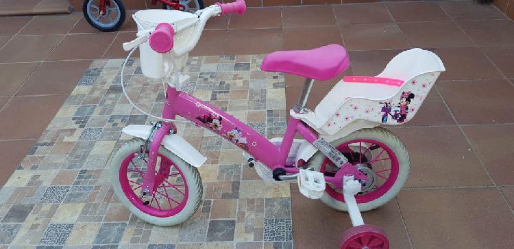 "Bicicleta niña walt disney 12"" rosa"
