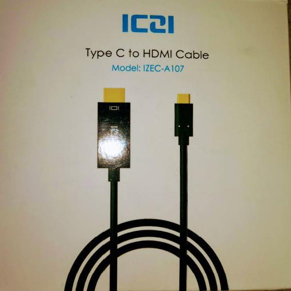 Cable type c a hdmi 1,8m, nuevo