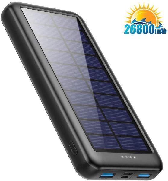 Cargador solar 26800 mah, powerbank solar.