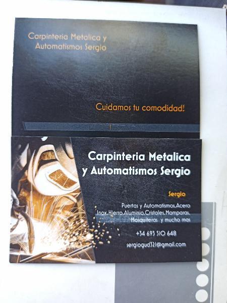 Carpintero metalico