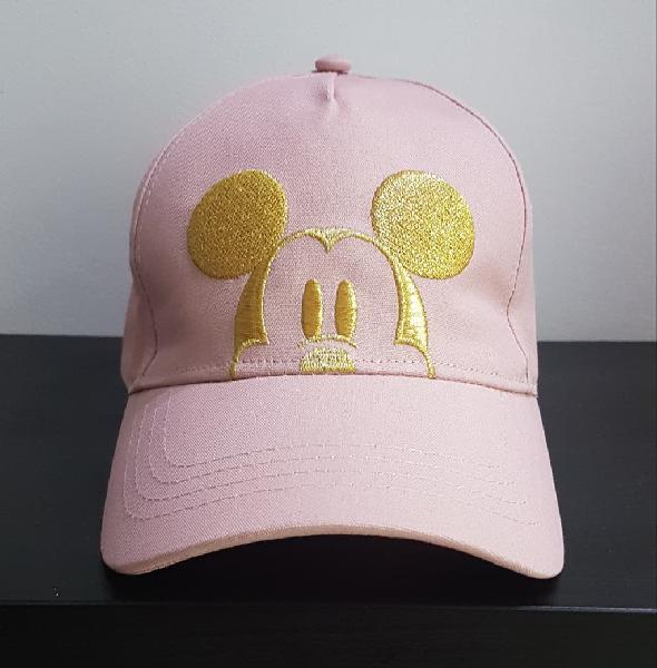 Gorra oficial de disney mickey mouse rosa y dorada