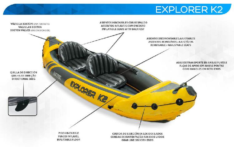 Kayak doble para alquiler