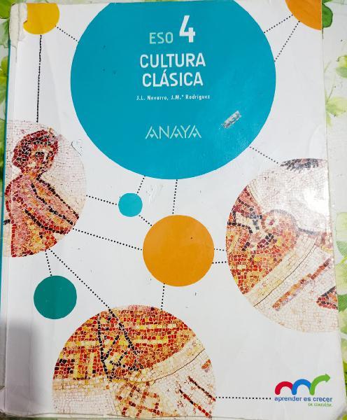 Libro cultura clásica 4eso