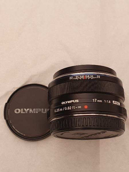 Olympus objetivo 17 1.8