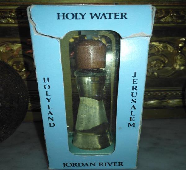 Agua bendita del rio jordan gran bote + cruz madera en su