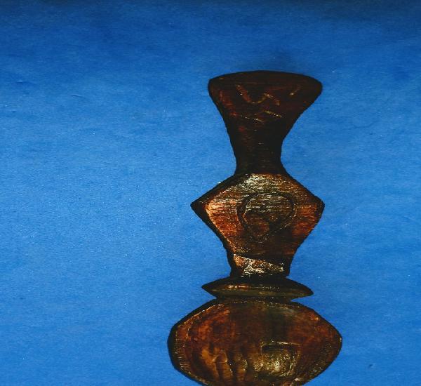 Cuchara de madera. minimo 100 años de antiguedad. arte