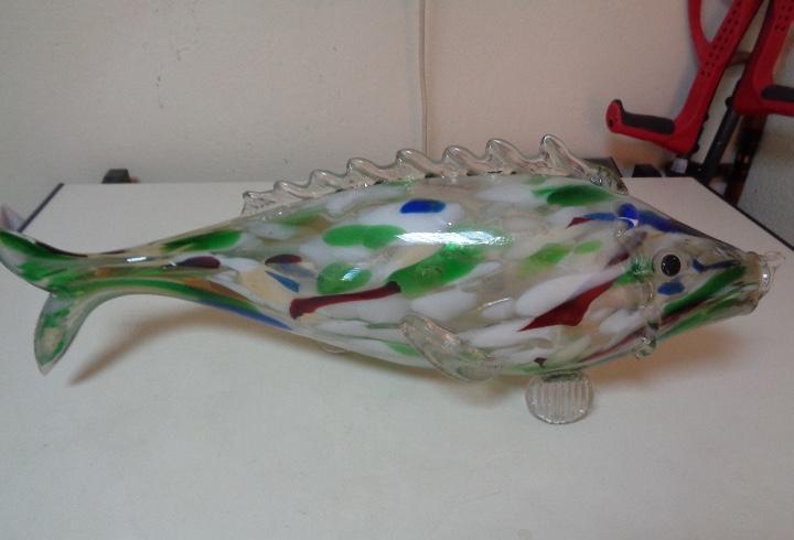 Enorme pez de cristal murano