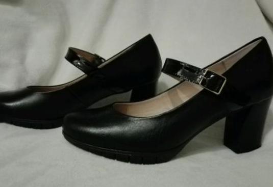 Zapatos piel tacón wonders