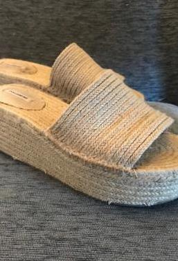 Sandalias de cuña de esparto