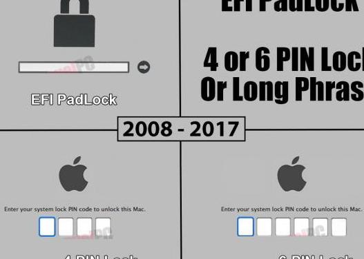Servicio efi padlock icloud apple