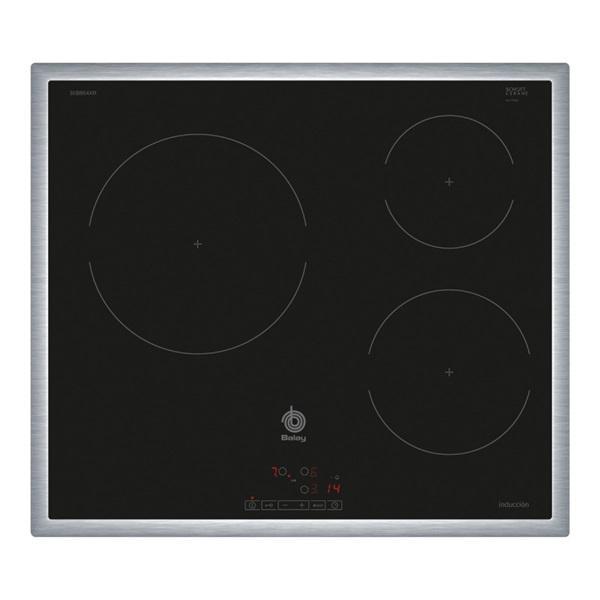 Balay 3eb864xr - placa inducción 3 zonas 60 cm negra marco