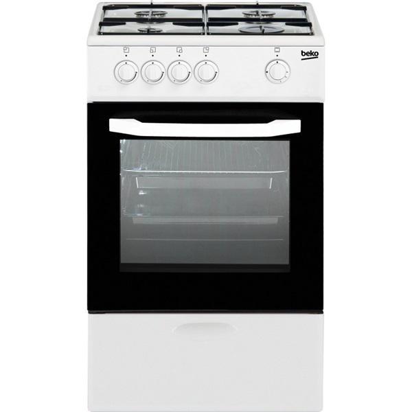 Beko csg42009dw - cocina de gas butano blanca 4 fuegos 85 x