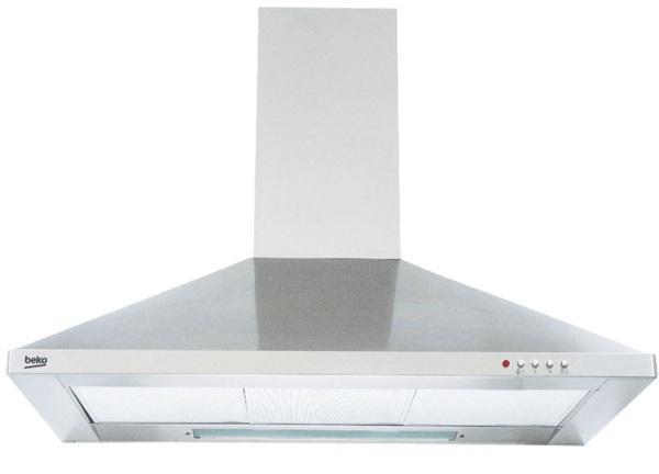 Beko cwb 9441 xn - campana decorativa piramidal de 90cm en