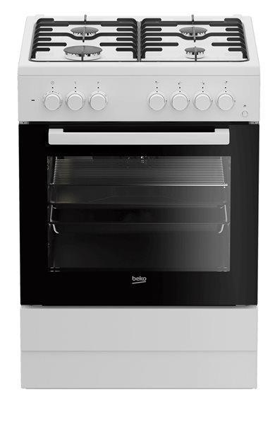 Beko fse62110dw - cocina con placa de gas y horno con
