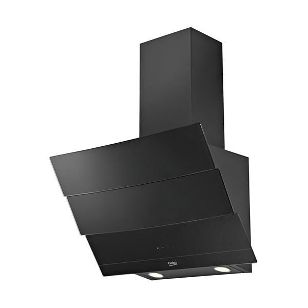 Beko hca62640b - campana decorativa inclinada negro 60 cm