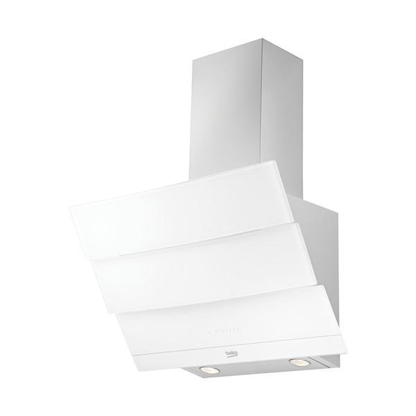Beko hca62640w - campana decorativa inclinada blanca 60 cm