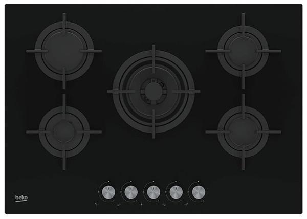 Beko hilw 75222 sl - placa de gas butano 75cm 5 fuegos