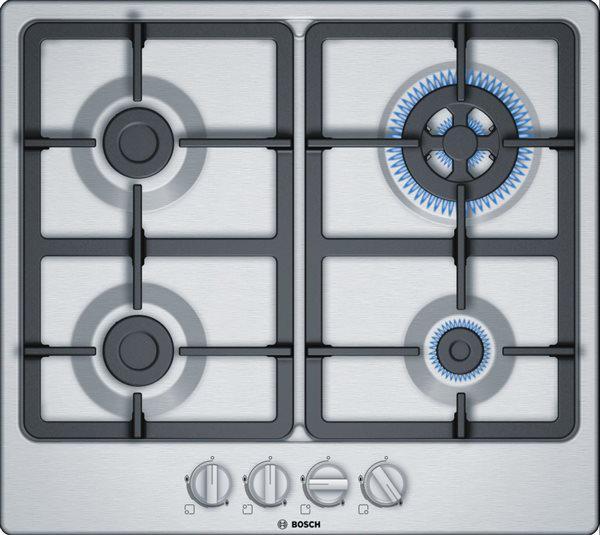 Bosch pgh6b5b90 - placa de gas natural con 4 fuegos serie 4