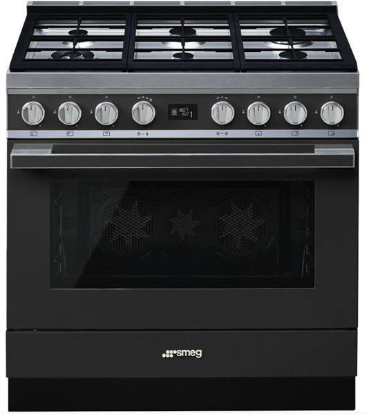 Smeg cpf9gman - cocina con placa de gas y horno eléctrico
