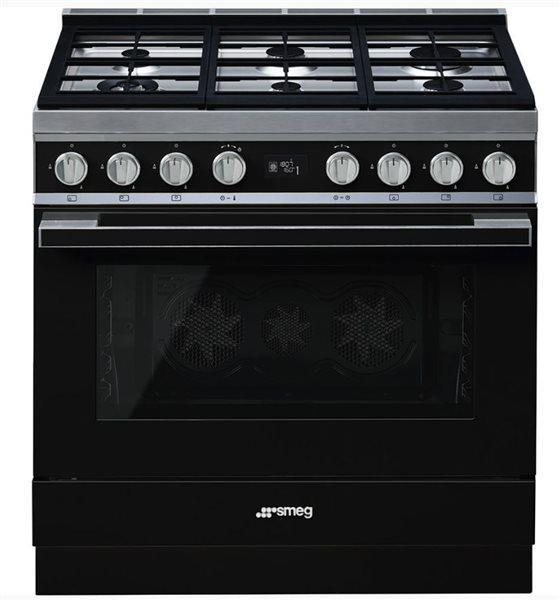 Smeg cpf9gmbl - cocina con placa de gas y horno eléctrico