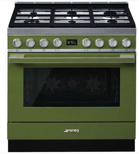 Smeg cpf9gmog - cocina con placa de gas y horno eléctrico