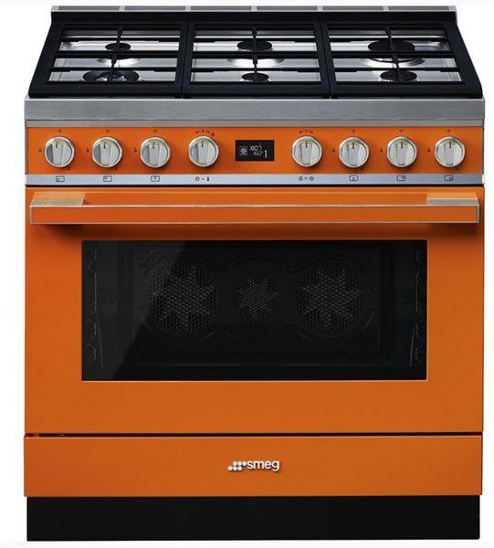 Smeg cpf9gmor - cocina con placa de gas y horno eléctrico