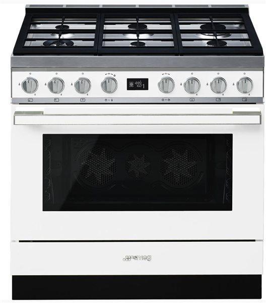 Smeg cpf9gmwh - cocina con placa de gas y horno eléctrico