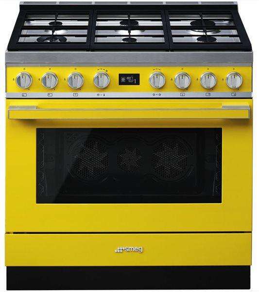 Smeg cpf9gmyw - cocina con placa de gas y horno eléctrico
