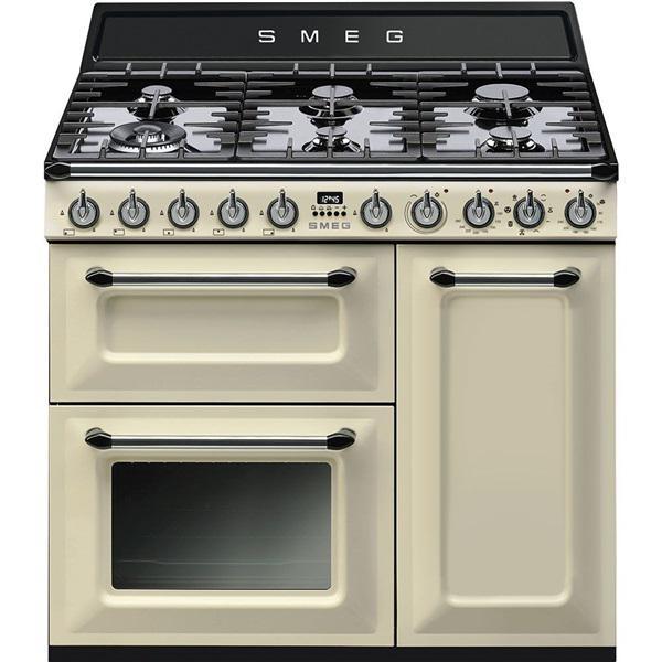 Smeg tr93p - cocina 90x60cm 3hornos encimera gas clase a