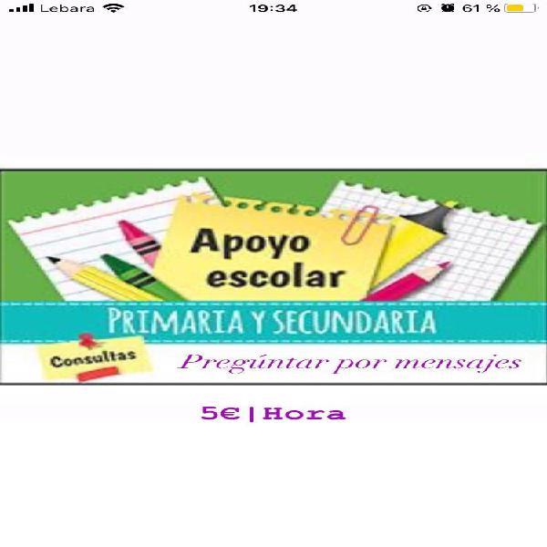 Apoyo escolar 5€/h