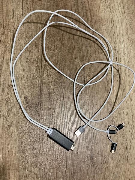 Cable hdmi para dispositivos android e ios (apple)