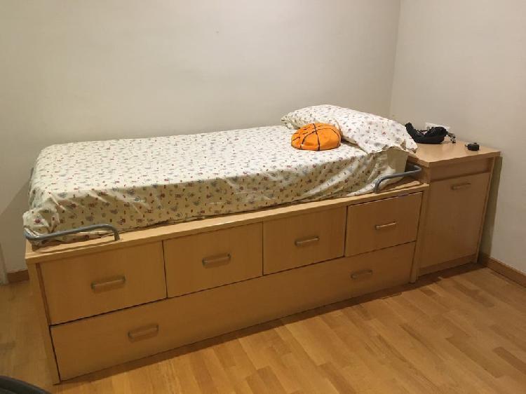 Cama escritorio y cajones