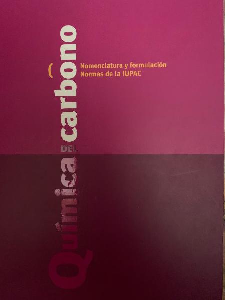 Dos libros: química orgánica y química inorganica