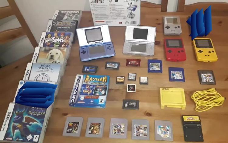 Game boy + ds + juegos + accesorios 270 euros