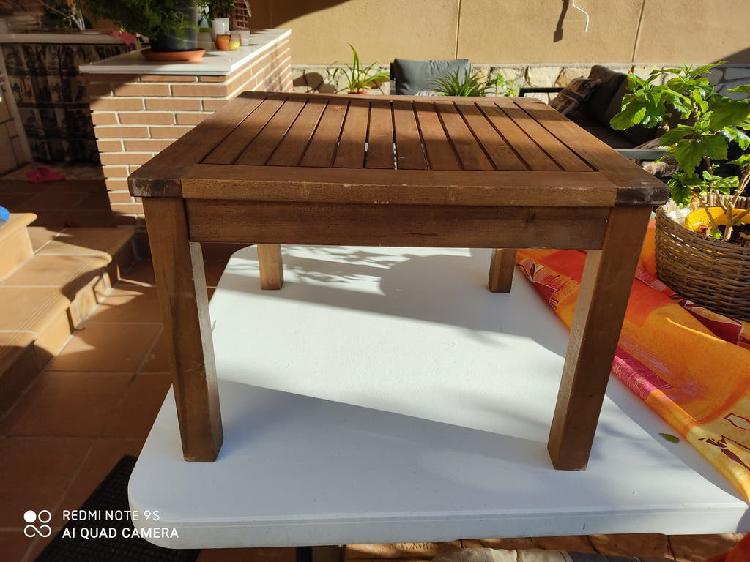 Mesa madera maciza terraza/patio (50*50*36)