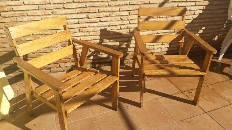 Muebles de jardin.dos sillones y sofa dos plazas.