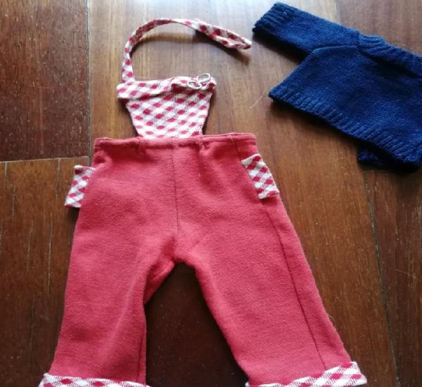 Pantalón peto y jersey antiguo de los 60 para muñeca