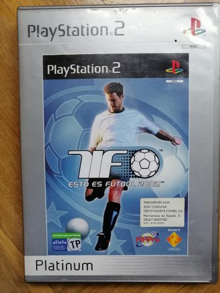 Playstation 2 juego esto es fútbol 2002.
