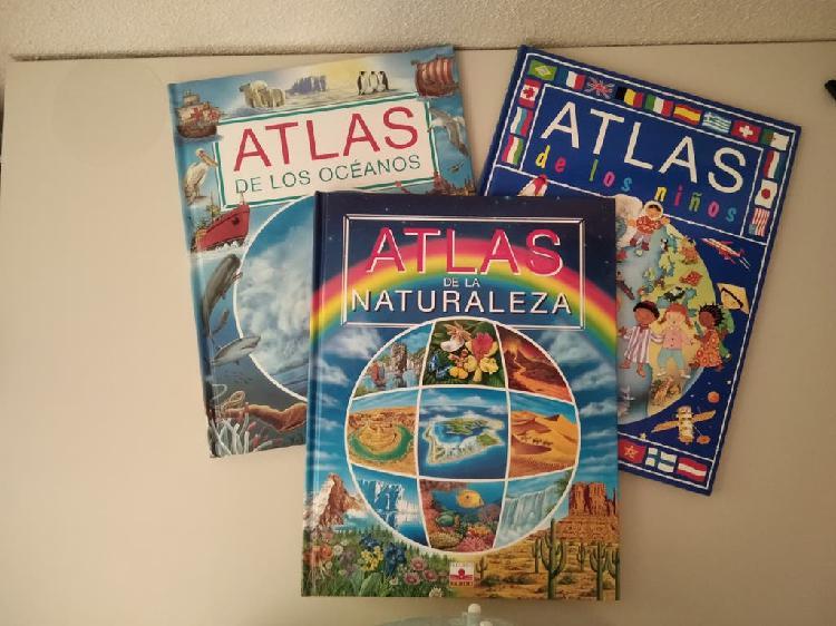 Atlas infantil oceanos, naturaleza y los niños.