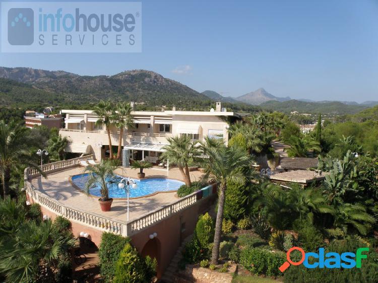 Mansión paguera 4.500.000€ ref: 1216 villa mediterránea de lujo, de 4000m2 en colina muy céntrica y privada. sup. contr., 900 m2, 6 dormitorios, 4 en-suite, 2 baños, 3 salones-comedores (1 de