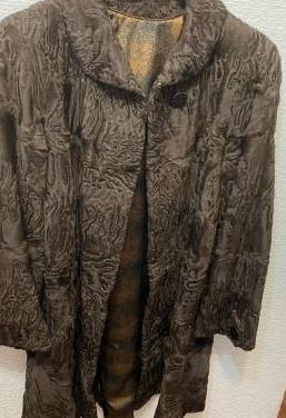 Abrigo piel autentica de karakul