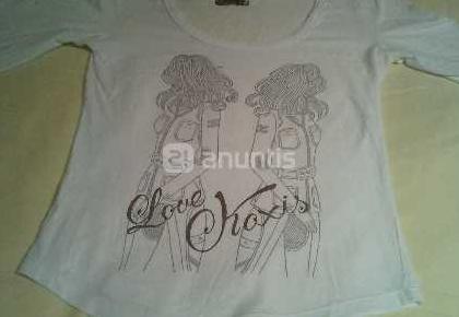 Camiseta de chica blanca talla s marca koxis